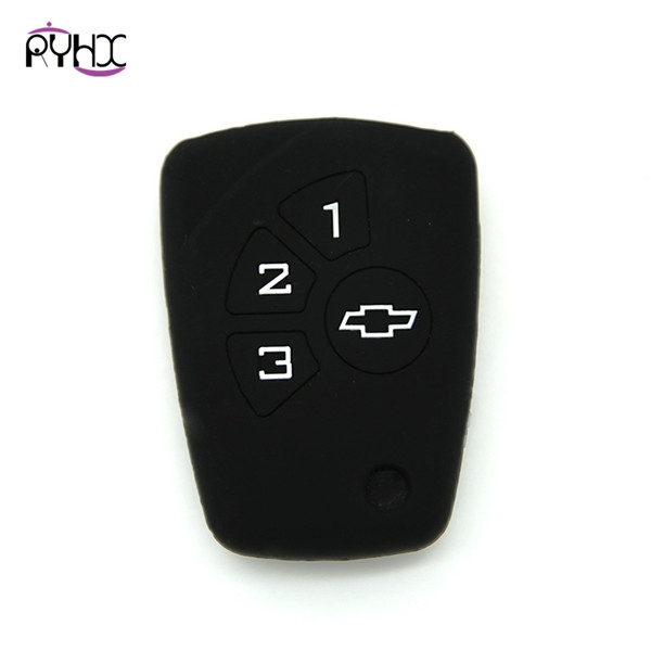 Chevrolet custom key covers|cases|protectors|skins without logo,3 buttons,a variety of colors,completely natural silicone.