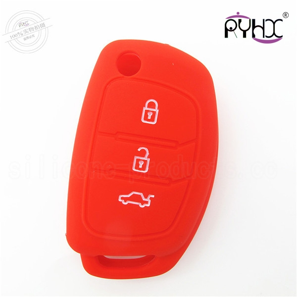 Hyundai silicone car key casing, car key silicone cover, silicone car key protective protector
