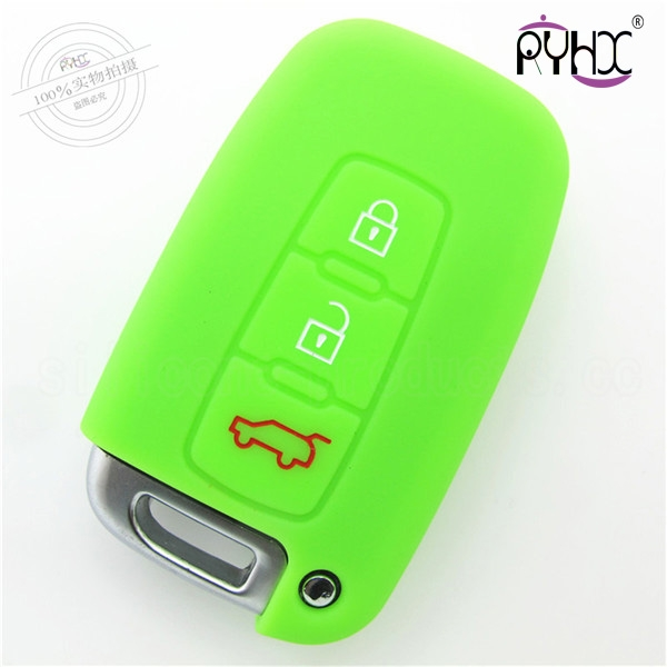 Hyundai tucson silicone car key shell, factory supply key silicone case, waterproof silicone key fob covers