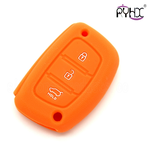 Hyundai silicone car key protector, practical car key silicone case for Hyundai, soft touch car key silicone covers