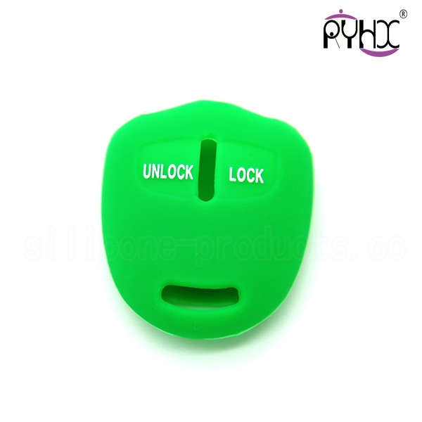 Mitsubishi silicone car key skin, wholesale silicone car key protective cover, high quality car key silicone casing, green key case for car.