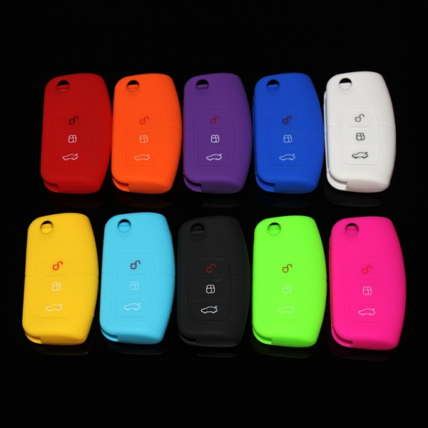 Online wholesale silicone car key cover ford fiesta 3-button.