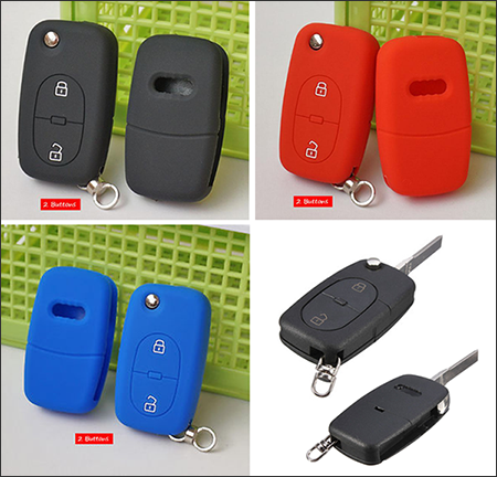 The Silicone Cover For Audi-Flip Key Model C