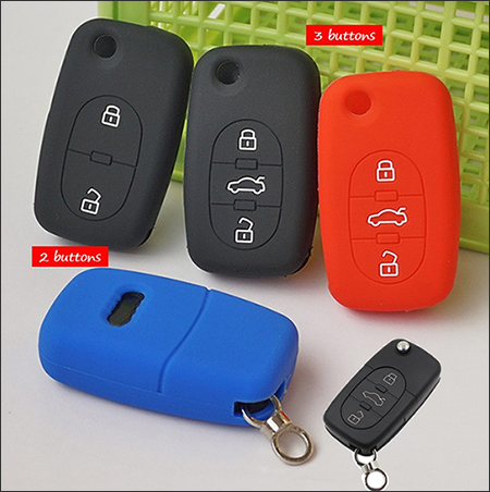The Silicone Key Cover For Audi-Flip Key Model A