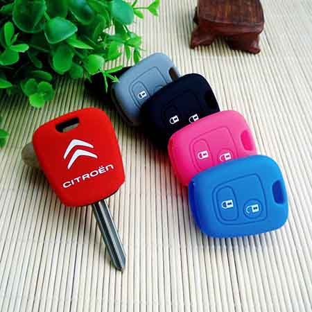 silicone-key cover-for-2-button-Citroen-C1-C2-C3-remote-key-fob