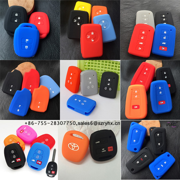Toyota Key Fob Cover -Colorful silicone key cover for Toyota car key here1