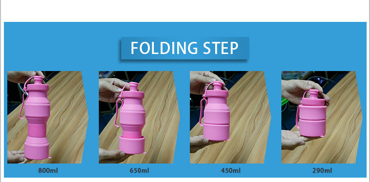 folding step of silicone water bottle