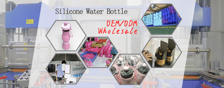 the production process of silicone collapsible water bottle