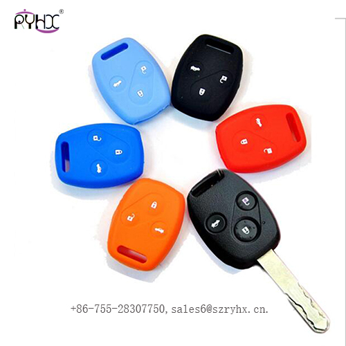 wholesale Honda car key cover 3 buttons,soft silicone and rubber
