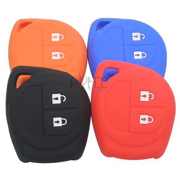 The front of the silicone key cover for SUZUKI SX4 Swift Liana Grand Vitara Jimny Alto(4 colors).