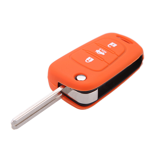 High Quality silicone rubber car key cover for KIA Rio K2 K5 Sorento Soul Sportage Shuma 3 button flip key.