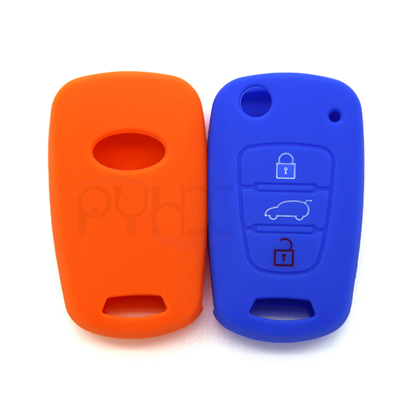 the front and back of KIA Rio K2 K5 Sorento Soul Sportage Shuma key fob cover(3 Button)