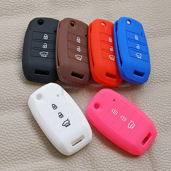 Colorful new KIA K3 Bongo Carens Silicone key fob cover(3 button).