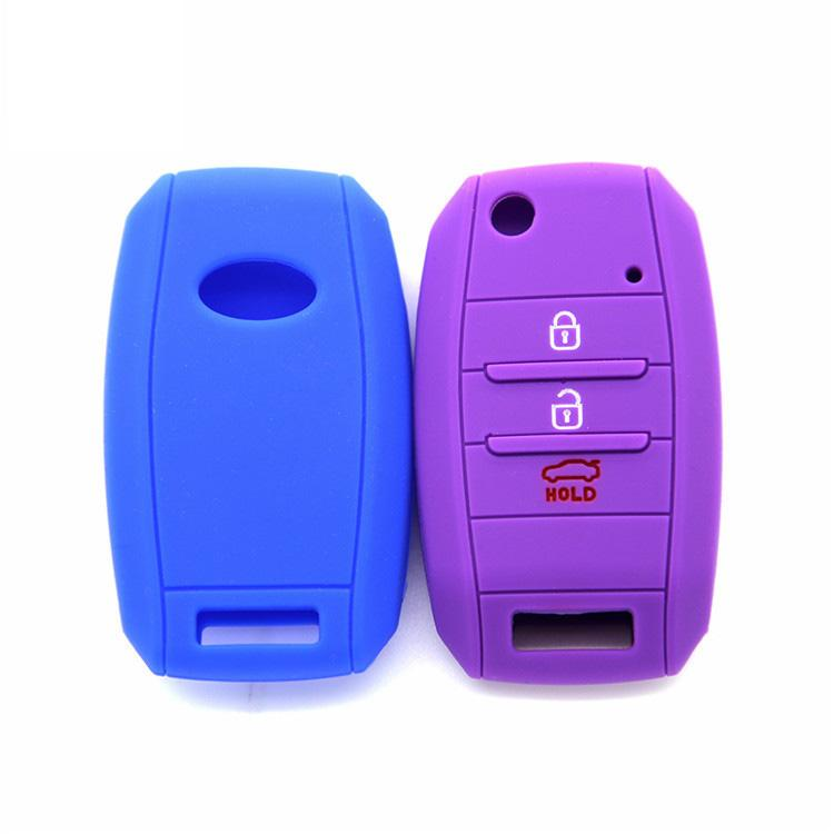 the front and detail KIA K3 Bongo Carens Silicone key cover(3 buttons).