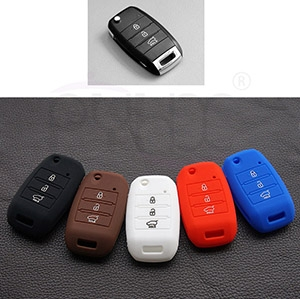 Wholesale new KIA K3 Bongo Carens Silicone key fob cover(3 button).