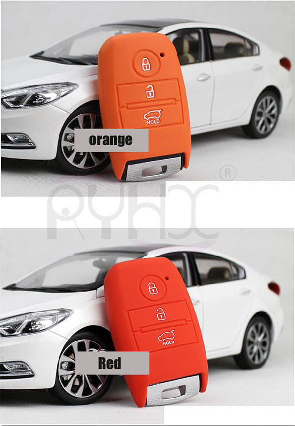 car key remote silicone cover perfectly fit for KIA  K3 Cerato Rio Rio5 car key remote.