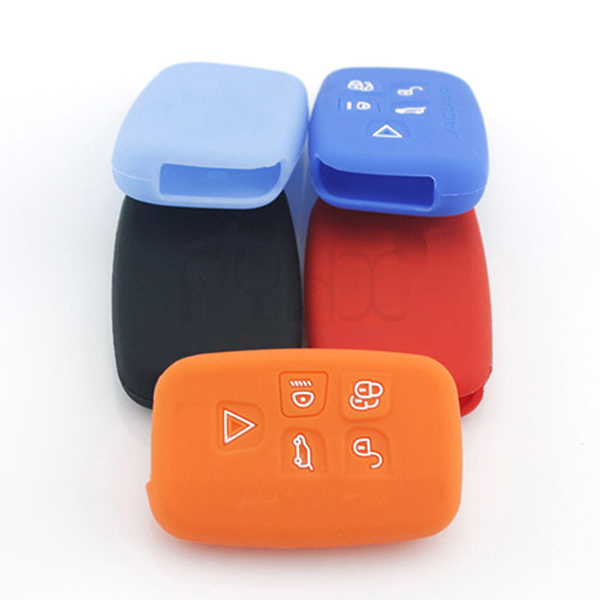 5 buttons LandRover rubber silicone car remote cover protector case skin bag