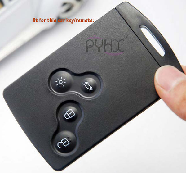 4 button Renault Laguna Megane Koleos car key remote.