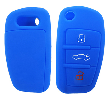 Audi A6 silicone key shell(debossed)