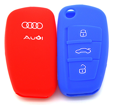 Audi A6 silicone key shell(Embossed)